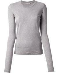 T-shirt a maniche lunghe grigia di Acne Studios