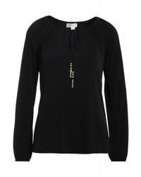 T-shirt a maniche lunghe nera di Michael Kors