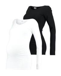 T-shirt a maniche lunghe nera di Zalando Essentials