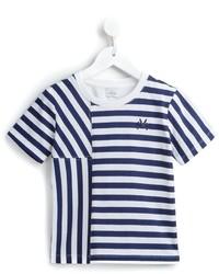 T-shirt a righe orizzontali blu scuro di No Added Sugar