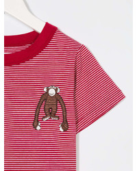 T-shirt a righe orizzontali rossa e bianca