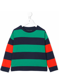 T-shirt a righe orizzontali verde di Stella McCartney