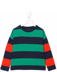 T-shirt a righe orizzontali verde di Stella McCartney