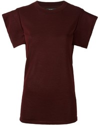 T-shirt bordeaux di Isabel Marant