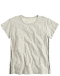 T-shirt con paillettes grigia