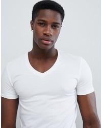 T-shirt con scollo a v bianca di ASOS DESIGN
