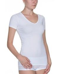 T-shirt con scollo a v bianca di Bruno Banani