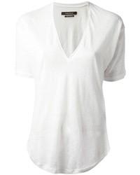 T-shirt con scollo a v bianca di Isabel Marant