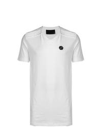 T-shirt con scollo a v bianca di Philipp Plein