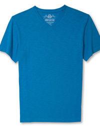 T-shirt con scollo a v blu