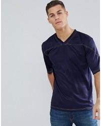 T-shirt con scollo a v blu scuro di Bellfield