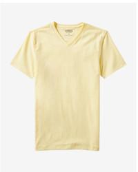 T-shirt con scollo a v gialla