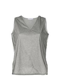 T-shirt con scollo a v grigia di Fabiana Filippi