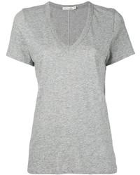 T-shirt con scollo a v grigia di Rag & Bone