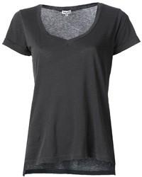 T shirt con scollo a v grigio scuro original 2136543