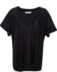 T-shirt con scollo a v nera di Anine Bing