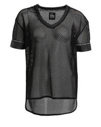 T-shirt con scollo a v nera di Even&Odd
