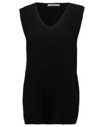 T-shirt con scollo a v nera di Glamorous Tall