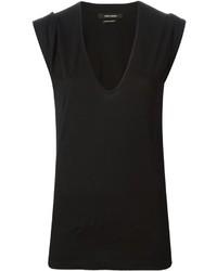 T-shirt con scollo a v nera di Isabel Marant