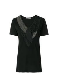 T-shirt con scollo a v nera di PIERRE BALMAIN