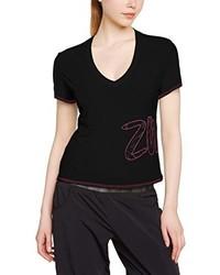 T-shirt con scollo a v nera