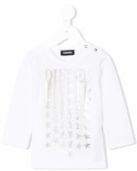 T-shirt con stelle bianca di Diesel