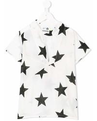 T-shirt con stelle bianca di Nununu