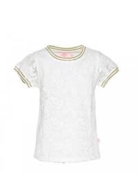 T-shirt di pizzo bianca