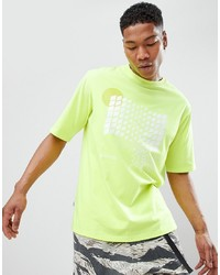 T-shirt girocollo a quadri lime di ANTIMATTER