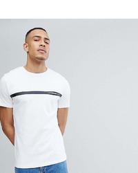 T-shirt girocollo a righe orizzontali bianca e nera di Selected