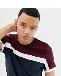 T-shirt girocollo a righe orizzontali bianca e rossa e blu scuro di ASOS DESIGN