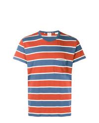 T-shirt girocollo a righe orizzontali bianca e rossa e blu scuro di Levi's Vintage Clothing