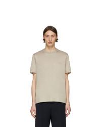 T-shirt girocollo beige di Brioni