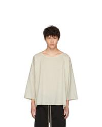 T-shirt girocollo beige di Jan Jan Van Essche