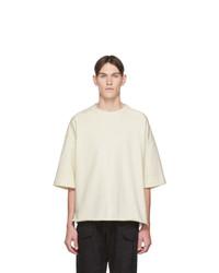 T-shirt girocollo beige di Jil Sanderand