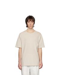 T-shirt girocollo beige di Lemaire