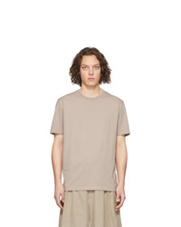 T-shirt girocollo beige di Maison Margiela