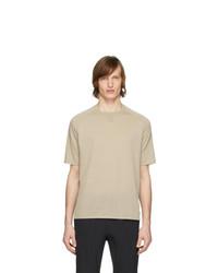 T-shirt girocollo beige di Z Zegna