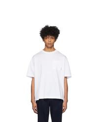 T-shirt girocollo bianca di Acne Studios
