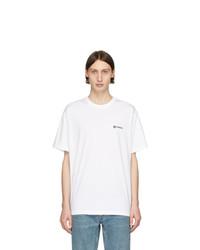 T-shirt girocollo bianca di Burberry
