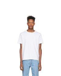 T-shirt girocollo bianca di Champion Reverse Weave