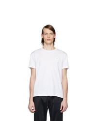 T-shirt girocollo bianca di Dolce and Gabbana