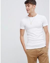 T-shirt girocollo bianca di Esprit