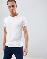 T-shirt girocollo bianca di Farah