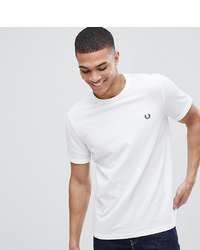 T-shirt girocollo bianca di Fred Perry