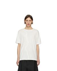 T-shirt girocollo bianca di Isabel Benenato