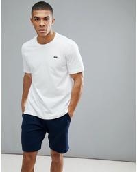 T-shirt girocollo bianca di Lacoste Sport
