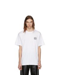 T-shirt girocollo bianca di Loewe
