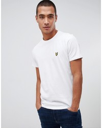 T-shirt girocollo bianca di Lyle & Scott