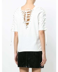 T-shirt girocollo bianca di McQ Alexander McQueen